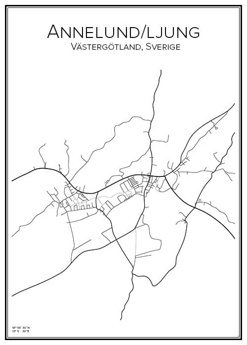 Stadskarta över Annelund