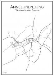 Stadskarta över Annelund/Ljung