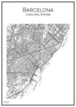 Stadskarta över Barcelona