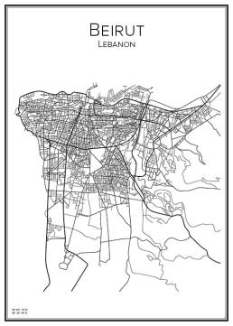 Stadskarta över Beirut