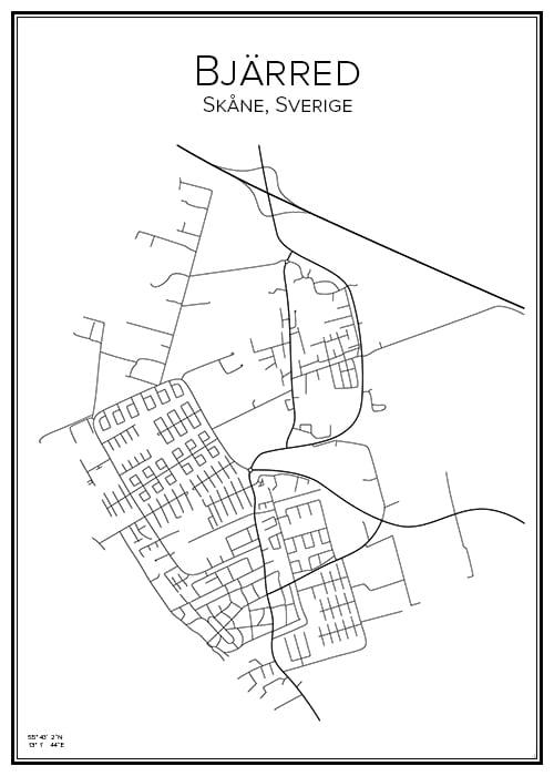 Stadskarta över Bjarred