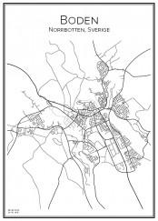 Stadskarta över Boden