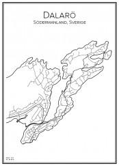 Stadskarta över Dalarö