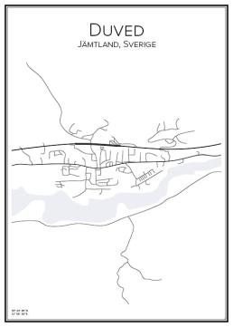 Stadskarta över Duved