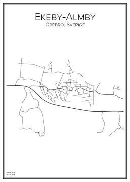 Stadskarta över Ekeby-Almby