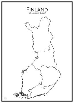 Stadskarta över Finland