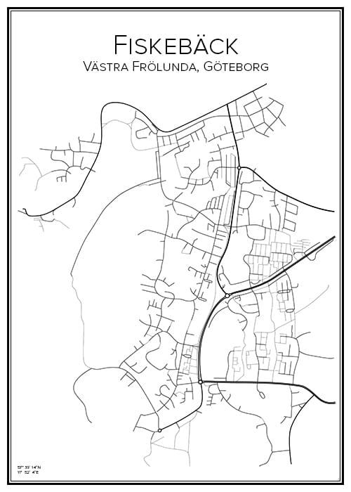 Stadskarta över Fiskebäck