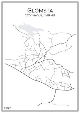 Stadskarta över Glömsta