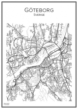 Stadskarta över Göteborg