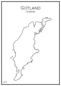 Stadskarta över Gotland