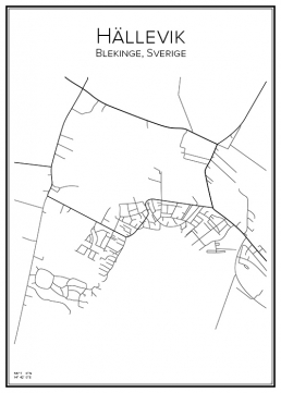 Stadskarta över Hällevik