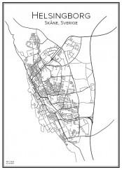 Stadskarta över Helsingborg