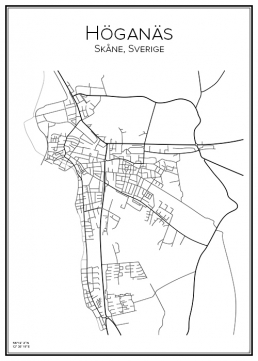 Stadskarta över Höganäs