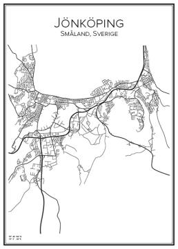 Stadskarta över Jönköping