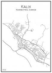 Stadskarta över Kalix