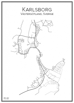 Stadskarta över Karlsborg