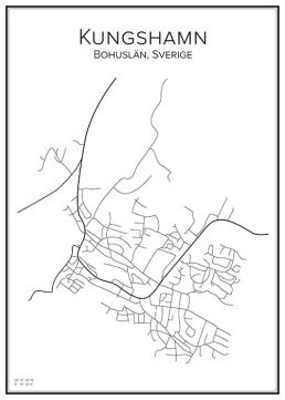 Stadskarta över Kungshamn