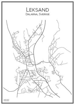 Stadskarta över Leksand