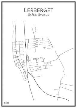 Stadskarta över Lerberget