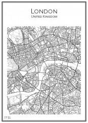 Stadskarta över London