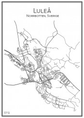 Stadskarta över Luleå