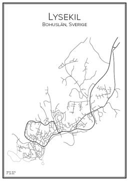 Stadskarta över Lysekil