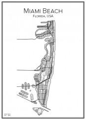 Stadskarta över Miami Beach