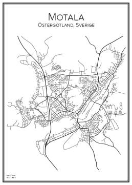 Stadskarta över Motala