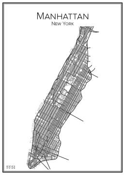 Stadskarta över Manhattan