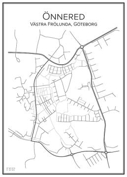 Stadskarta över Önnered
