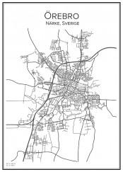 Stadskarta över Örebro