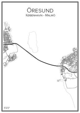 Stadskarta över Öresund