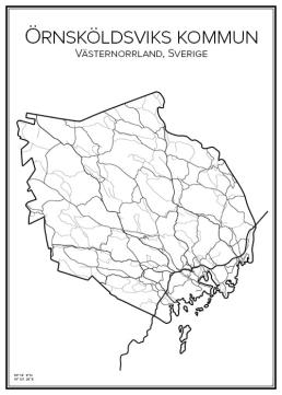 Stadskarta över Örnsköldsviks kommun