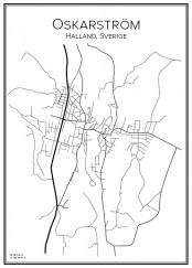 Stadskarta över Oskarström