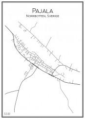 Stadskarta över Pajala
