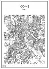 Stadskarta över Rom