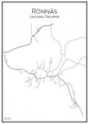 Stadskarta över Rönnäs