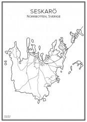 Stadskarta över Seskarö