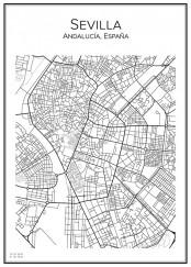 Stadskarta över Sevilla