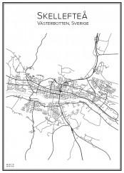 Stadskarta över Skellefteå