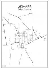 Stadskarta över Skivarp