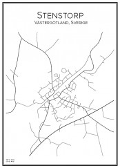 Stadskarta över Stenstorp