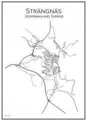 Stadskarta över Strängnäs