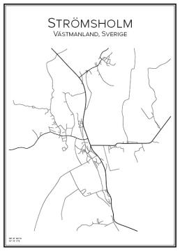 Stadskarta över Strömsholm