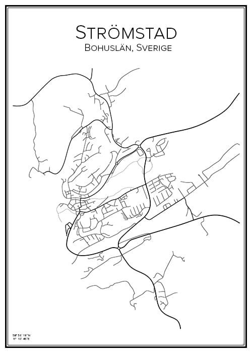 Stadskarta över Strömstad