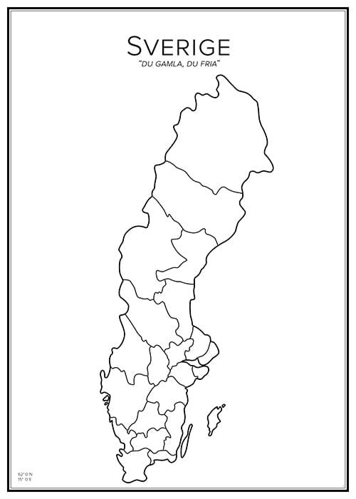 Stadskarta över Sverige