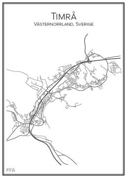 Stadskarta över Timrå