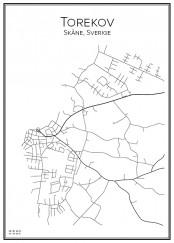 Stadskarta över Torekov