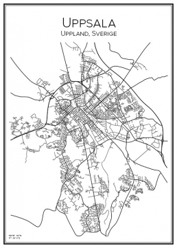 Stadskarta över Uppsala