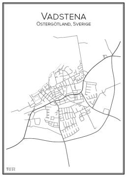 Stadskarta över Vadstena